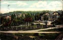 Postcard Imatra Südfinnland, Straßenpartie, Häuser, Platz, Wiesen