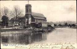 Postcard Liège Lüttich Wallonien, L'Eglise de Fetinne, Gewässer, Kirche