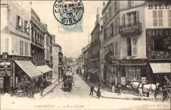 Ak Compiègne Oise, La Rue Solferino, Papeterie, Cafe, Comptoir Paris