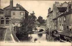 Ak Corbeil Essonne, l' Essonnes et le Grand Moulin
