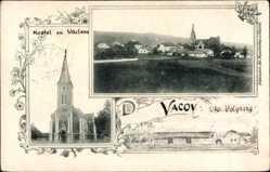 Postcard Vacov Watzau Südböhmen, Kostel sv Václana, Gesamtansicht