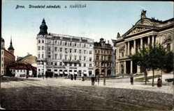 Postcard Brno Brünn Südmähren, Divadelne namestie z koblizna