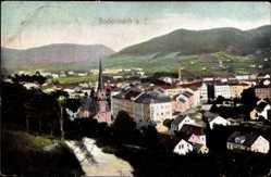 Postcard Děčín Tetschen Bodenbach Elbe Reg. Aussig, Gesamtansicht mit Kirche