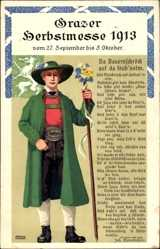 Künstler Litho Pamberger, Graz Steiermark Österreich, Herbstmesse 1913