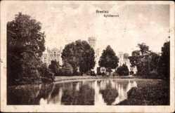 Ak Wrocław Breslau Schlesien, Sybillenort, Schloss, Wasserseite