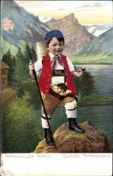 Präge Material Ak Appenzeller Tracht, Costume Appenzellois, Senn