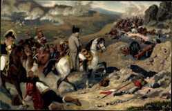 Künstler Ak Bellangé, Hippolyte, Somo Sierra, Napoleon auf dem Schlachtfeld