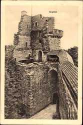 Ak Zagrodno Adelsdorf Schlesien, Burg Grodziec, Bergfried, Ruine