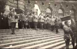 Foto Ak Wien 13.,August 1930, Begräbnis Oberst Hiltl, Frontkämpfervereinigung