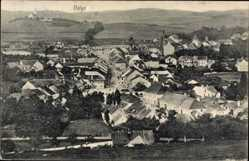Postcard Volyn Ukraine, Totalansicht der Ortschaft, Felder, Kirche, Häuser