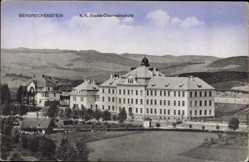 Postcard Bergreichenstein Reg. Pilsen, K.K. Staats Oberrealschule, Felder