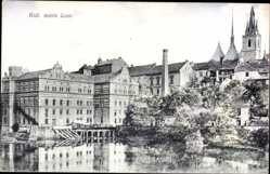 Postcard Louny Reg. Aussig, Kral. mesto Loun, Blick auf den Ort, Kirchturm