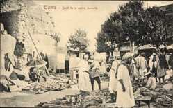 Ak Tunis Tunesien, Souk de la vieille ferraille, Marktplatz, Maghreb