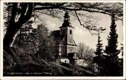 Ak Kłodzko Glatz Schlesien, Blick auf Bergkirchlein Maria Schnee