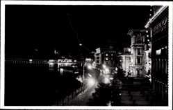 Postcard Lugano Kt. Tessin Schweiz, Monte S. Salvatore di notte, Nachtansicht