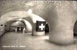 Postcard Kt. Bern Schweiz, Jungfraujoch, Eispalast, Innenansicht, Höhle