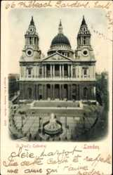 Ak London City, View of St. Paul's Cathedral, monument, facade