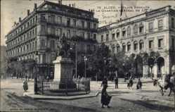 Postcard Algier Alger Algerien, Place Bugeaud, Quartier General du XIe Corps