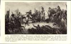 Künstler Ak Austerlitz 1805, Bataille des Trois Empereurs, Napoleon
