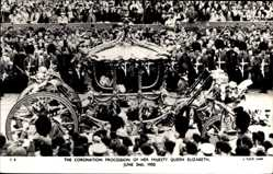 Ak Coronation Procession of Her Majety Queen Elizabeth June 2nd 1953