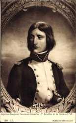 Künstler Ak Napoleon Bonaparte Lieutenant Colonel au 1er Bat. de la Corse 1792