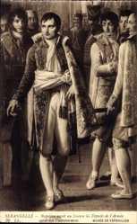 Künstler Ak Serangelli, Napoleon recoit au Louvre les Deputes de l'Armee