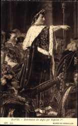 Künstler Ak David, Distribution des Aigles par Napoleon Ier