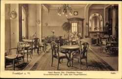 Postcard Frankfurt am Main, Hotel Baseler Hof, CHristl. Hospiz, Wiesenhüttenplatz 25