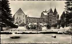 Postcard Schierke Wernigerode, Blick auf FDGB Ferienheim Hermann Gieseler