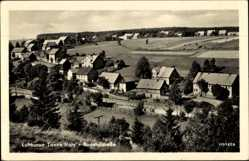 Postcard Tanne Oberharz am Brocken, Blick in die Bodetalstraße, Felder, Häuser