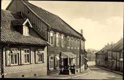 Postcard Benneckenstein Oberharz am Brocken, Blick in die Bahnhofstraße