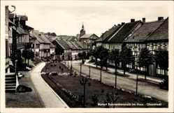 Postcard Benneckenstein Oberharz am Brocken, Partie in der Oberstadt, Kirchturm
