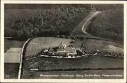 Postcard Benneckenstein Oberharz am Brocken, Georg Zeidler Haus, Fliegeraufnahme