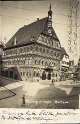 Foto Ak Markgröningen im Kreis Ludwigsburg, Blick auf das Rathaus, Fachwerkhaus