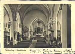 Postcard Lutherstadt Wittenberg in Sachsen Anhalt, Innenansicht der Stadtkirche