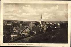 Postcard Deisslingen Kreis Rottweil, Blick auf das Oberdorf mit Wasserwerk