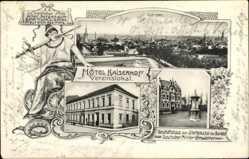 Postcard Viersen in Nordrhein Westfalen, Hotel Kaiserhof, Vereinslokal, Geschäftshaus