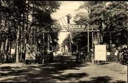 Postcard Markgrafenheide Rostock, Blick auf den Eingang, Pionierlager