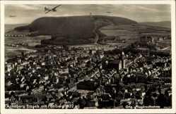 Postcard Annaberg Buchholz Erzgebirge, Stadtansicht, Pöhlberg, Fliegeraufnahme