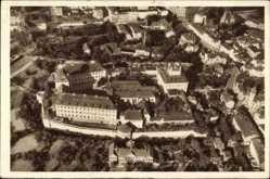 Postcard Zeitz an der Weißen Elster im Burgenlandkreis, Moritzburg, Fliegeraufnahme