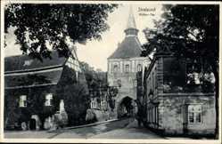 Postcard Stralsund in Mecklenburg Vorpommern, Blick auf das Köther Tor, Turm