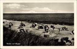 Ak Ostseebad Baabe auf Rügen, Partie am Strand, Strandkörbe, Besucher