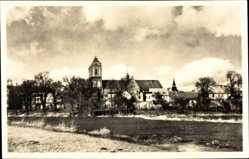 Postcard Güstrow im Kreis Rostock, Blick auf den Ort und zum Dom, Fluss