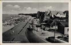 Postcard Ostseebad Kühlungsborn im Kreis Rostock, Strandpartie, Promenade
