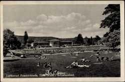 Postcard Friedrichroda im Thüringer Wald, Schwimmbad, Badegäste