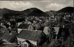 Postcard Friedrichroda im Thüringer Wald, Blick über den Ort mit Gottlob