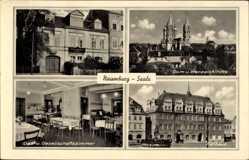 Postcard Naumburg an der Saale, Dom, Wenzelskirche, Rathaus, Gasthaus Jägerhof
