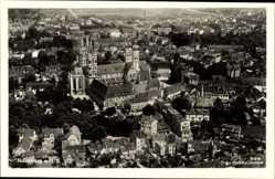 Postcard Naumburg an der Saale, Totalansicht der Ortschaft, Dom, Fliegeraufnahme