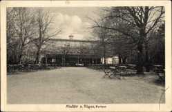 Postcard Altefähr auf der Insel Rügen, Der Terrassengarten des Kurhauses