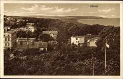 Postcard Ostseebad Göhren auf Rügen, Blick über die Dächer auf die Landschaft